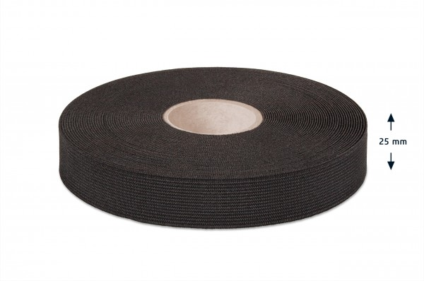 Qualitäts-Elastikband schwarz 25 mm