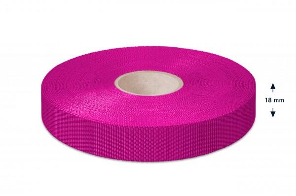 Einfaßband Polypropylen, pink, 18 mm