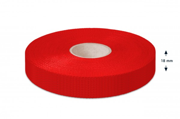 Einfaßband Polypropylen, rot, 18 mm