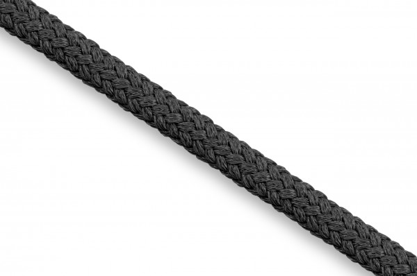Rundkordel, Econyl® recycelt, 4 mm, schwarz