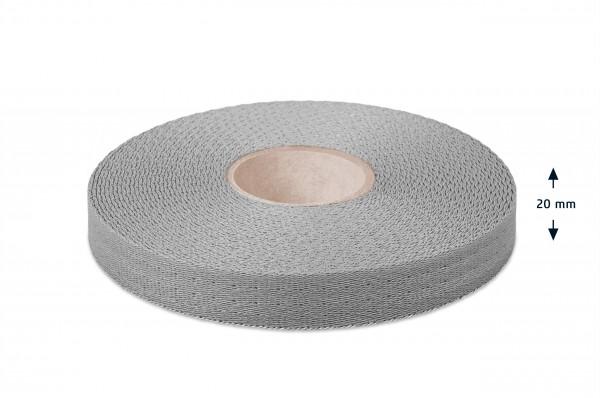 Econyl® Gurtband, recycelt, silber 316
