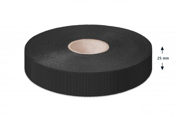 Einfaßband Polypropylen, schwarz, 25 mm