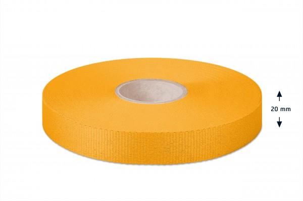 Leichtes Ripsband, gelb 20mm