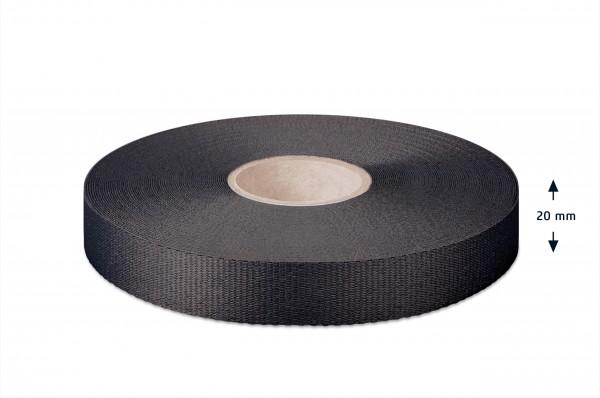 Leichtes Ripsband, schwarz 20mm