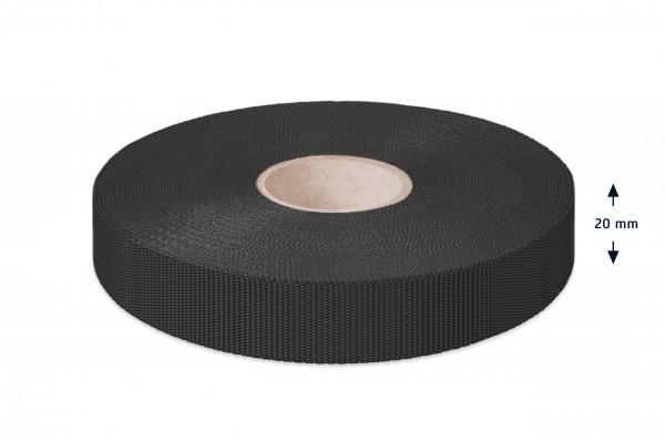 Econyl Einfaßband recycelt schwarz 20 mm