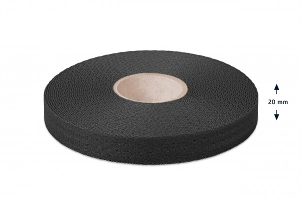 Econyl® Gurtband, recycelt, schwarz