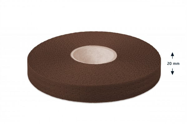 Econyl® Gurtband, recycelt, braun 237