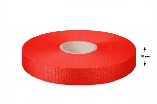 Leichtes Ripsband, rot 20mm