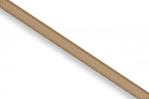 Gummikordel, Dicke 3 mm beige