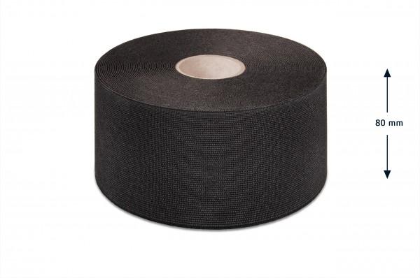 Breitelastikband schwarz 80 mm