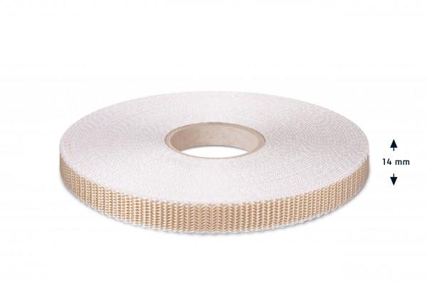 Rolladen-Gurtband, beige-rohweiss, 14 mm