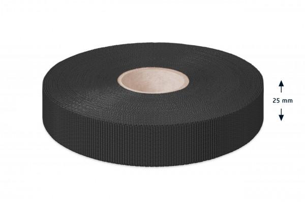 Econyl Einfaßband recycelt schwarz 25 mm