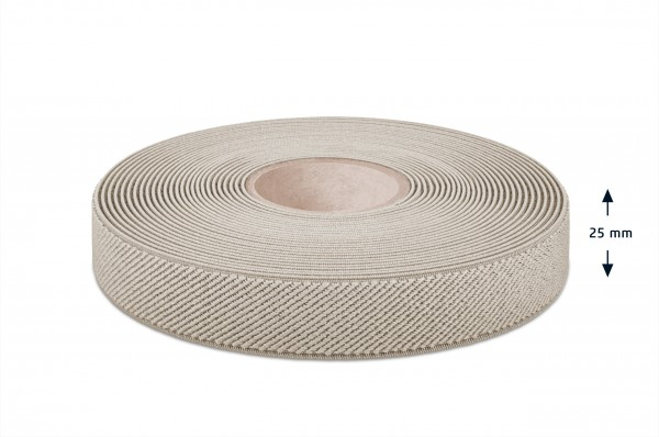 Elastikband beige 25 mm