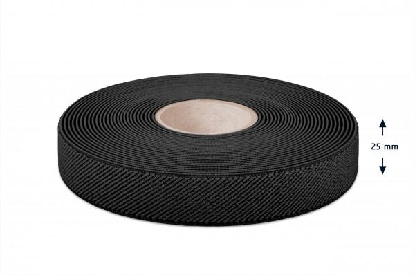 Elastikband schwarz 25 mm