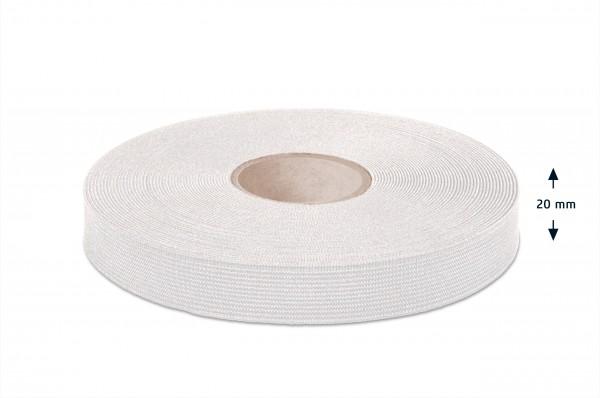 Qualitäts-Elastikband weiss 20 mm