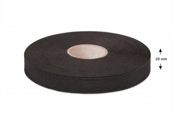 Qualitäts-Elastikband schwarz 20 mm