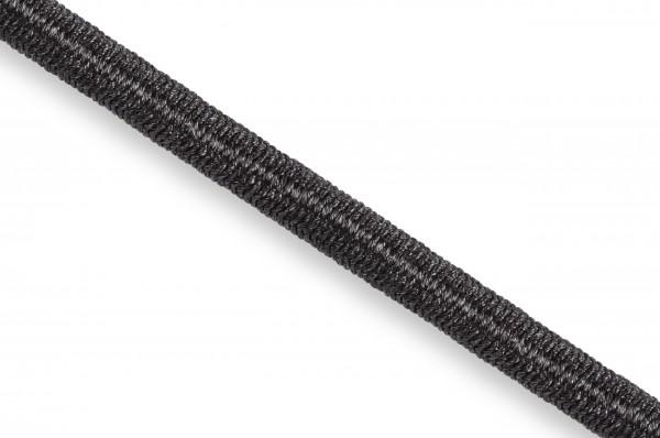 Gummikordel, Econyl® recycelt, 4 mm, schwarz