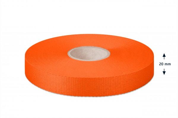 Leichtes Ripsband, orange 20mm