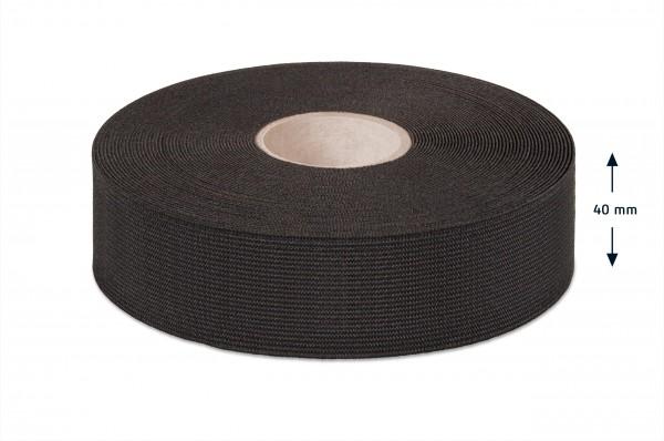 Qualitäts-Elastikband schwarz 40 mm