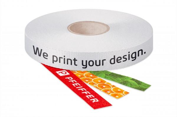 Ripsband PET recycelt bedruckt