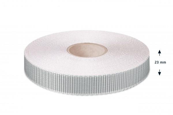 Rolladen-Gurtband, grau-rohweiss, 23 mm
