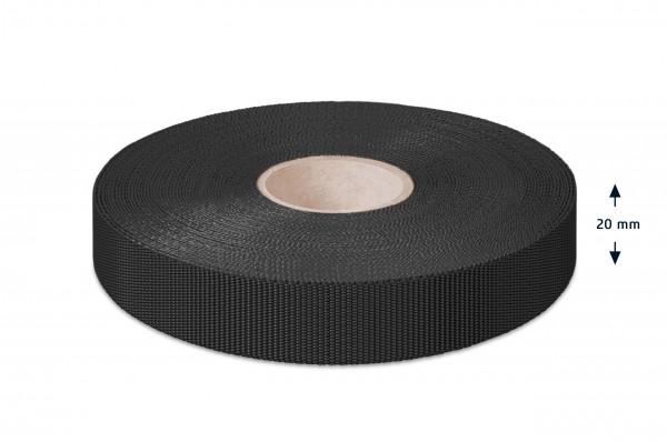 Einfaßband Polypropylen, schwarz, 20 mm